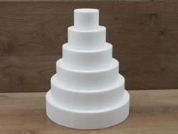Set van ronde taartdummies van 7 cm hoog