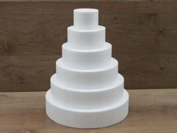 Runde Tortendummy-set von 7 cm hoch