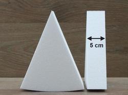 Taartpunt dummies met afgeronde hoeken van 5 cm hoog