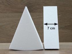 Taartpunt dummies met afgeronde hoeken van 7 cm hoog