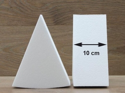 Taartpunt dummies met afgeronde hoeken van 10 cm hoog