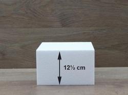 Vierkante taartdummies met afgeronde hoeken van 12,5 cm hoog