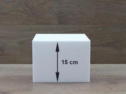Vierkante taartdummies met afgeronde hoeken van 15 cm hoog