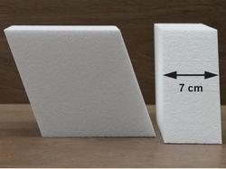 Diamant taartdummies met afgeronde hoek van 7 cm hoog