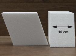 Diamant taartdummies met afgeronde hoek van 10 cm hoog