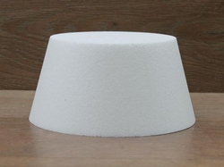 Conisch ronde taartdummies met afgeronde hoek van10 cm hoog