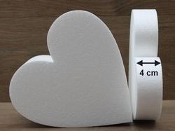 Hart taartdummies van 4 cm hoog