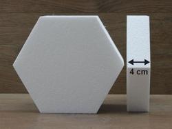 Hexagon cake dummies with straight edges of 4 cm high