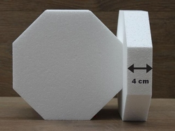 Octagon cake dummies with straight egdes of 4 cm high