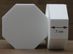 Octagon cake dummies with straight egdes of 7 cm high