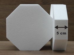 Octagon cake dummies with chamfered egdes of 5 cm high