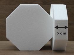 Achthoek taartdummies met afgeronde hoek van 5 cm hoog