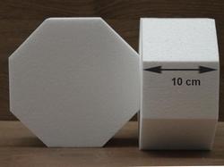 Achthoek taartdummies met afgeronde hoek van 10 cm hoog