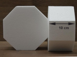 Octagon cake dummies with chamfered egdes of 10 cm high