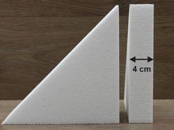 Driehoek taartdummies van 4 cm hoog