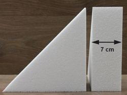 Driehoek taartdummies van 7 cm hoog