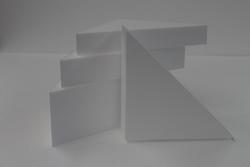 Triangel cake dummy set with straight edges