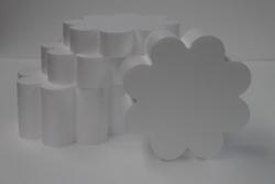 Set taartdummies Bloemvorm 8 blad Set