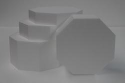 Set Achthoekige taartdummies - Oktogon Set