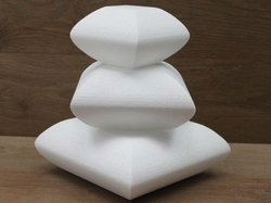 Pillow cake dummy set with chamfered edges