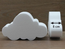 Cloud cake dummies with chamfered edges of 5 cm high
