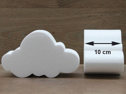 Cloud cake dummies with straight edges of 10 cm high