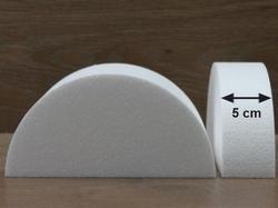 Half ronde taartdummies met afgeronde hoek van 5 cm hoog
