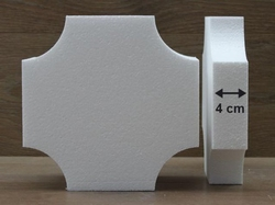 Square cake dummies with conversed corners of 4 cm high