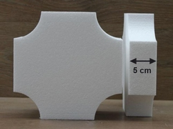Square cake dummies with conversed corners of 5 cm high