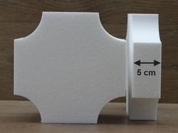 Viereckige Tortendummies mit umgekehrte Ecken von 5 cm hoch