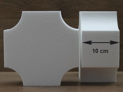 Vierkante taartdummies met omgekeerde hoeken van 10 cm hoog