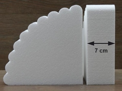 Fan cake dummies with straight edges of 7 cm high