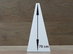 "Pyramid 27 x 27 cm - 70 cm (28"") high"