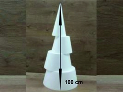 Kegel 100 cm hoog 4-delig