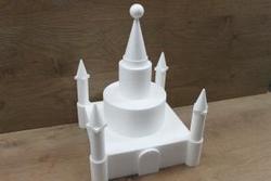 Schloß 24 teilige Tortendummy-set - 35 x 35 cm, 38 cm hoch