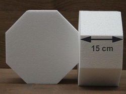 Octagon cake dummies with straight egdes of 15 cm high