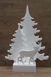 Christmas trees with deer incl. Foot