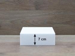 Vierkante taartdummies met afgeronde hoeken van 7 cm hoog