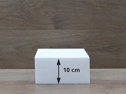 Vierkante taartdummies met afgeronde hoeken van 10 cm hoog