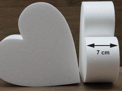 Herz Tortendummies mit Runde Kanten von 7 cm hoch
