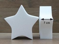 Stern Tortendummies mit Runde Kanten von 7 cm hoch