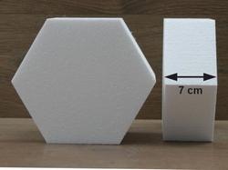 Zeshoek taartdummies met afgeronde hoek van 7 cm hoog
