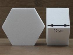 Sechseck Hexagon Tortendummies von 10 cm hoch