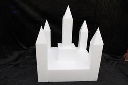 Kasteel 12 delig taartdummie set - 30 x 30 cm, 35 cm hoog
