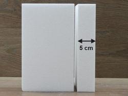 Rechteck Tortendummies mit Runde Kanten von 5 cm hoch