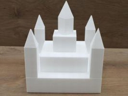 Kasteel 13 delig taartdummie set - 30 x 30 cm, 35 cm hoog