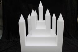 Castle cake dummy set 22 pcs - 40 x 40 cm, 42 cm high