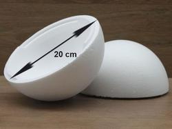 Styropor Kugel Ø 20 cm 2-teilig