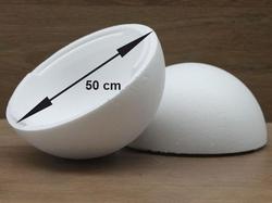 Styropor Kugel Ø 50 cm 2-teilig