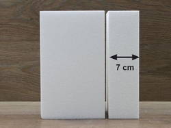 Rechthoek taartdummies met afgeronde hoek van 7 cm hoog
